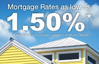 Resident mortgage rates as low as 1.50%*. * - rates subject to change; certain conditions apply.