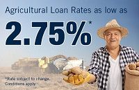 Agricultural Loan Rates as low as 2.75%