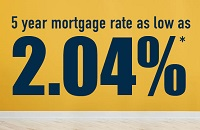 Sunrise Credit Union offers residential mortgage rates as low as 2.04%
