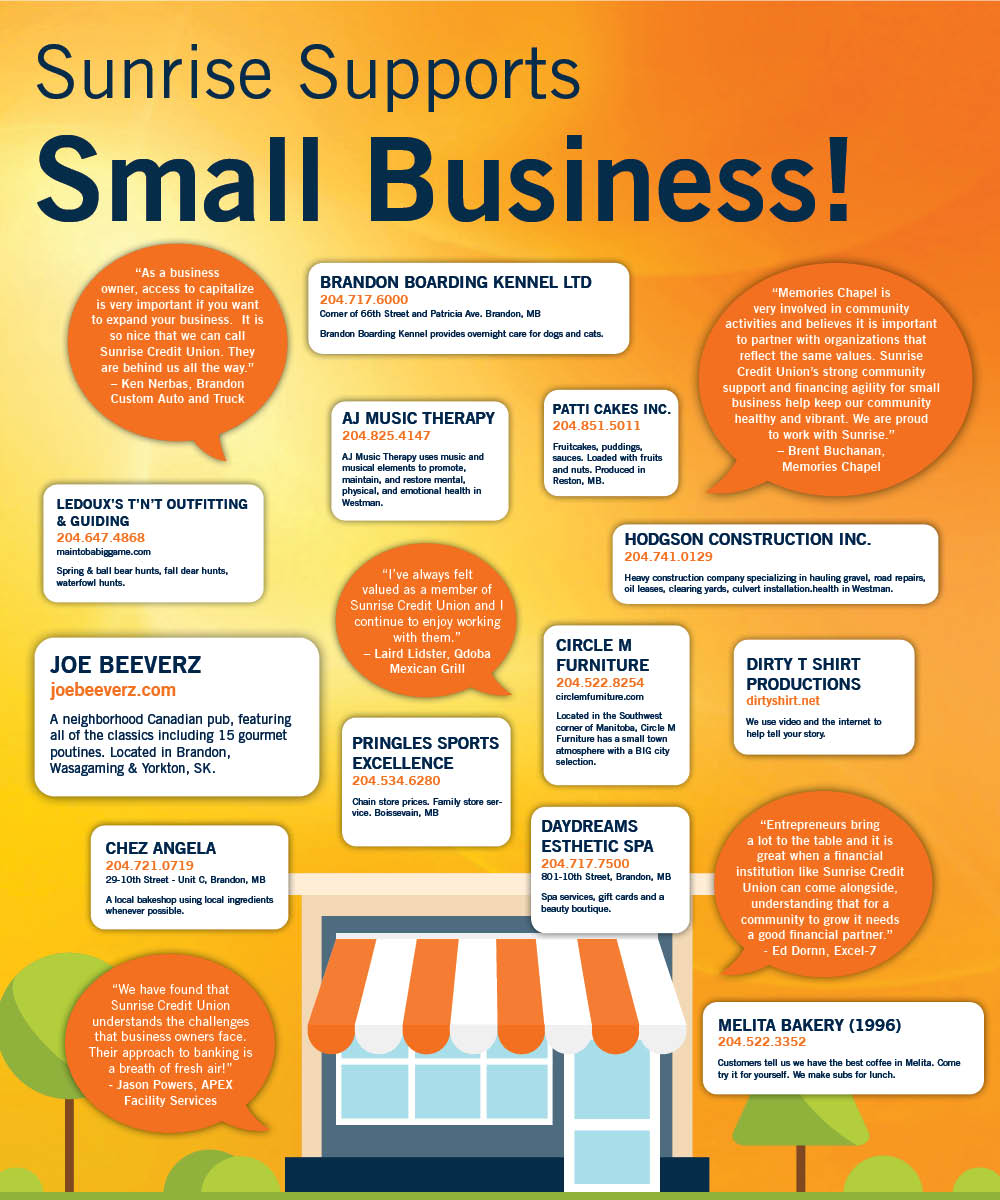 Sunrise Supports Small Business
