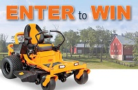 Sunrise Credit Union is giving away a riding lawn mower with a minimum value of $5,000. Click here to find out how to enter.