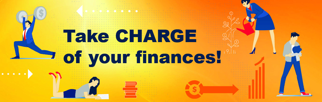 "November is Financial Literacy Month. ""Take charge of your finances!"""