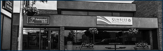 An outside view of the Minnedosa Branch of Sunrise Credit Union